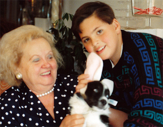 "Grandma, Me, and the ""Easter Bonnie"" on Easter 1992"