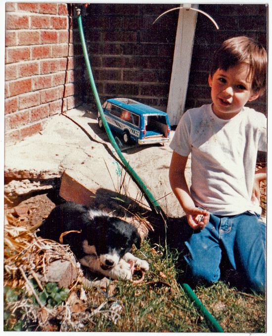 Me and my first Border Collie, Sassy. 1985